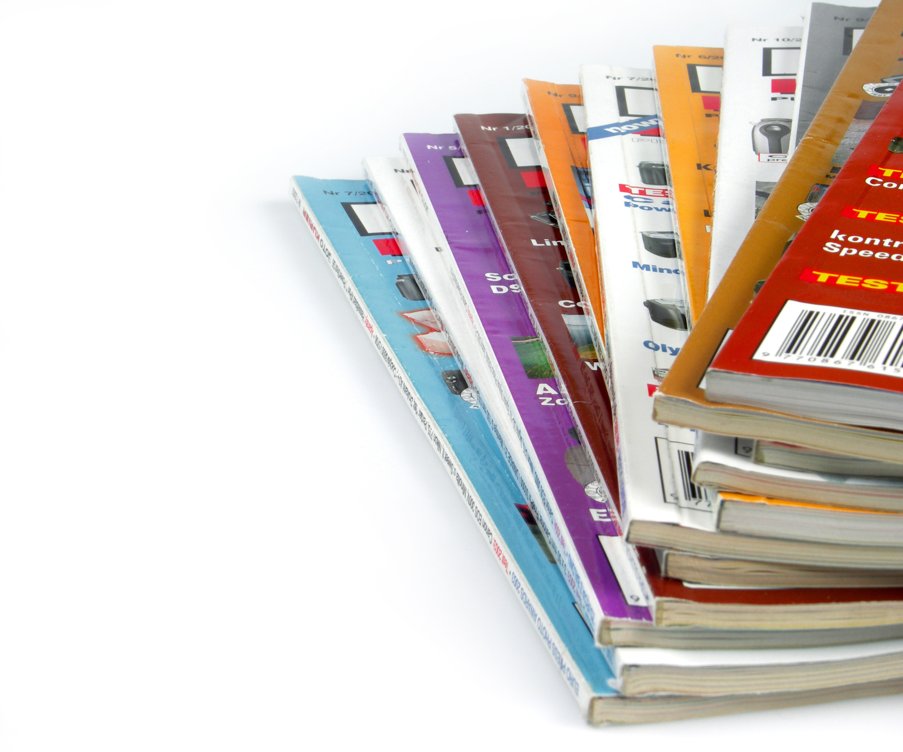 Image of a stack of magazines.