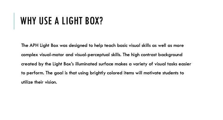 Why Use a Light Box?
