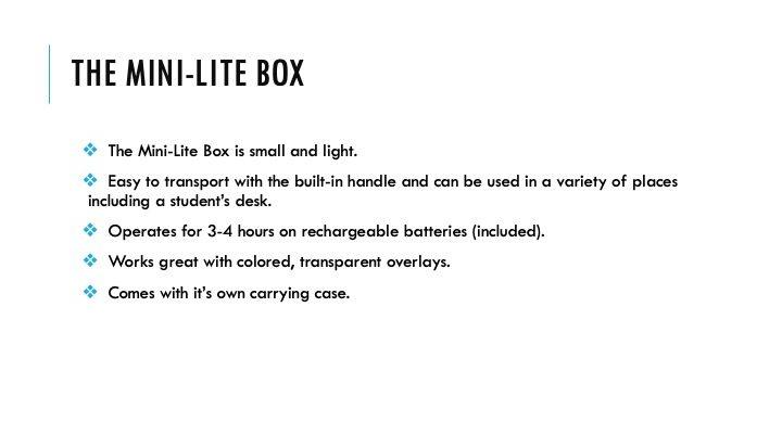 The Mini-Lite Box