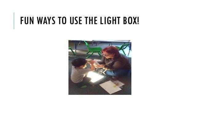Fun ways to use the Light Box!