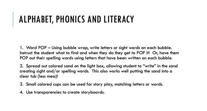 Alphabet, phonics and literacy